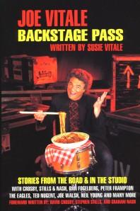 Joe Vitale Backstage Pass - Written By Susie Vitale  Book Cover Photo Courtesy of Joe Vitale