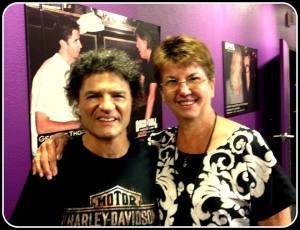 Linda with Joe V- photo courtesy of Linda Mitchell